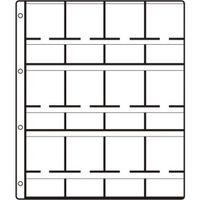 HARTBERGER Coin holder pages SUPER, with 12 pockets for 12 coin holders 50 x 50 mm - pack of 10 SUPER = reinforced holes. (GM 12)