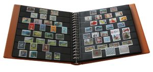 Omnia Stockbook page with 8 strips (30 mm) per page, black – Bild 3