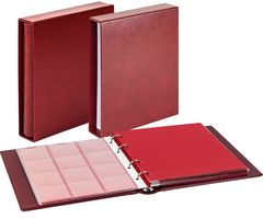 Set karat-Coin-album CLASSIC with protective casee- wine red. – Bild 1