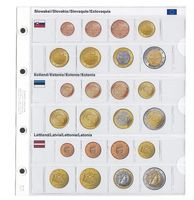 Illustrated page karat for EURO coin sets : Slovakia/Estonia/Latvia