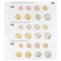 Vordruckblatt karat EURO-Kursmünzen-Sätze: Slowakei/Estland/Lettland