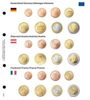 Illustrated page karat for EURO coin sets : Germany/Austria/France