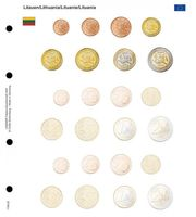 Illustrated page for EURO coin sets : Lithuania