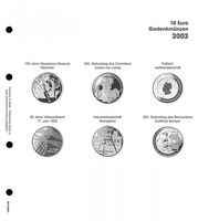 Illustrated page 10 EURO commemorative coins - 2003 Germany