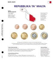 Illustrated page karat for EURO coin sets : NEW EURO countries: Malta