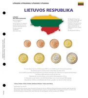 Illustrated page for EURO coin sets: NEW EURO countries: Lithuania