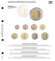 Illustrated page karat for EURO coin sets : New King in Netherlands