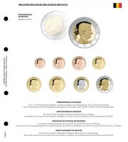 Illustrated page for EURO coin sets : New King in Belgium
