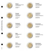 Illustrated page for 2 EURO commemorative coins : Belgium 2012 - Germany 2013