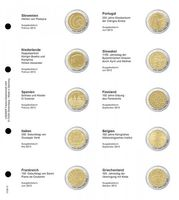 Illustrated page karat for 2 EURO commemorative coins : Slovenia 2013 - Greece 2013
