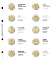 Illustrated page karat for 2 EURO commemorative coins : Greece 2013 - Portugal 2014