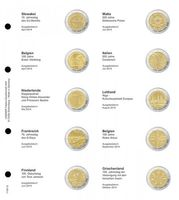 Illustrated page karat for 2 EURO commemorative coins : Slovakia 2014 - Greece 2014
