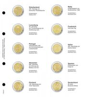 Illustrated page karat for 2 EURO commemorative coins : Greece 2014 - Germany 2015