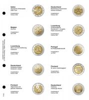 Pagina illustrata karat per monete co mmemorative cronologiche 2 Euro:Italia 2006 -Germania 2008