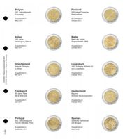Illustrated page karat  for 2 EURO commemorative coins : Belgium 2011 - Spain 2012