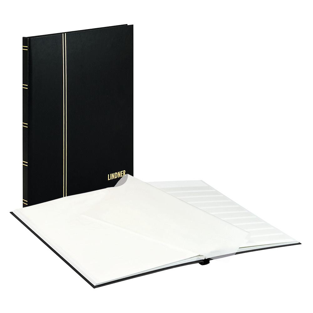 einsteckbuch standard schwarz unwattiert 16 wei e seiten durchgehende pergamin streifen 230. Black Bedroom Furniture Sets. Home Design Ideas