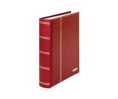 "Stockbook ""LUXUS"" with 60 white pages, 230 x 305 mm, red – Bild 1"