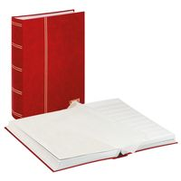 Stockbook STANDARD, red, unpadded, 64 white pages, glassine strips, 230 x 305 mm – Bild 1