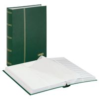 Stockbook STANDARD, green, unpadded, 64 white pages, divided glassine strips, 230 x 305 mm – Bild 1