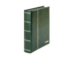 "Stockbook ""LUXUS"" with 60 black pages, 230 x 305 mm, green – Bild 1"