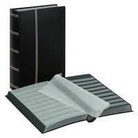 "Stockbook ""STANDARD"" with 64 black pages, 230 x 305 x 47 mm, black – Bild 1"