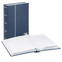 Stockbook LUXUS, blue, padded, 64 white pages, glassine strips, 230 x 305 mm – Bild 1