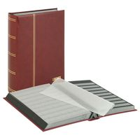 "Stockbook ""LUXUS"" with 64 black pages, 230 x 305 x 48 mm, red – Bild 1"
