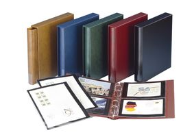 Set: Ring binder RONDO REGULAR, empty, with slipcase - winered – Bild 5