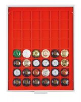 Champagne lid box (grey drawer, light red velour insert) – Bild 1