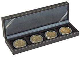 NERA Coin case S with 4 rectangular compartments for coins/coin capsules up to external Ø 52 mm – Bild 5