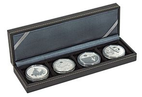 NERA Coin case S with 4 rectangular compartments for coins/coin capsules up to external Ø 52 mm – Bild 1