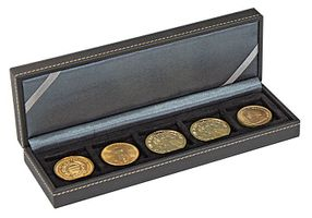 NERA Coin case S with 5 rectangular compartments for coins/coin capsules up to external Ø 40 mm – Bild 2