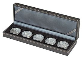 NERA Coin case S with 5 rectangular compartments for coins/coin capsules up to external Ø 40 mm – Bild 4