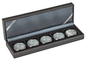 NERA Coin case S with 5 rectangular compartments for coins/coin capsules up to external Ø 40 mm – Bild 1