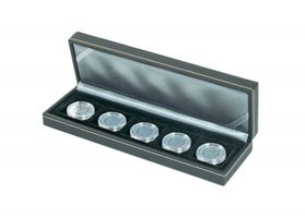 NERA Coin case S with 5 rectangular compartments for coins/coin capsules up to external Ø 40 mm – Bild 3