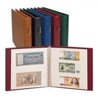 LINDNER Album pour billets banque (avec intercalaires blancs)-bleu