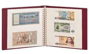 LINDNER Banknoten-Album (mit weißen Zwischenblättern)-weinrot – Bild 2