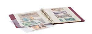 LINDNER Album pour billets banque (avec intercalaires blancs)-bordeaux – Bild 3