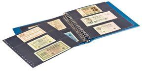 LINDNER Banknoten-Album (mit schwarzen Zwischenblättern)-blau – Bild 2
