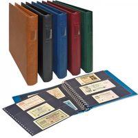 LINDNER Banknoten-Album (mit schwarzen Zwischenblättern)-weinrot – Bild 1