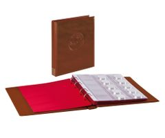 "Ring binder ""Half PENNY"" incl. 10 coin pages, dark brown – Bild 1"