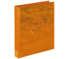 "Ring binder ""Half PENNY"" incl. 10 coin pages, tan – Bild 2"