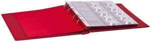 "Ring binder ""Half PENNY"" incl. 10 coin pages - wine red – Bild 3"