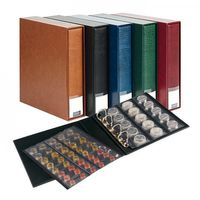 PUBLICA M Coin album incl. 10 coin pages, wine red – Bild 1