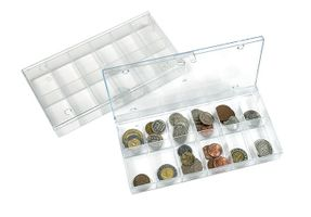 Box de collection transparent, à 12 compartiments fixes  31x48 mm - paquet de 10 – Bild 1