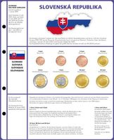 Illustrated page EURO COLLECTION: 3 EURO coin sets Slovakia