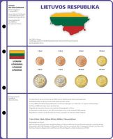 Illustrated page EURO COLLECTION: 3 EURO coin sets Lithuania
