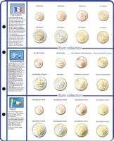 Illustrated page EURO COLLECTION: EURO coin sets France/Greece/Ireland