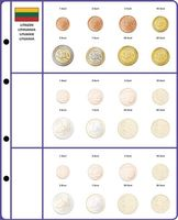 Illustrated page EURO COLLECTION: EURO coin sets Lithuania