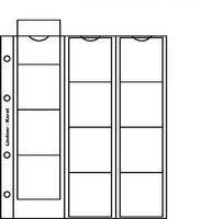 Нумизматические листы системы Кarat для размещения 12 монет диаметром до 48 мм, в комплекте с белым листом-прокладкой. Упаковка 5 штук.